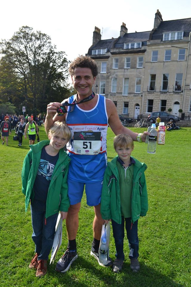 James Osborne at the Bristol to Bath Marathon